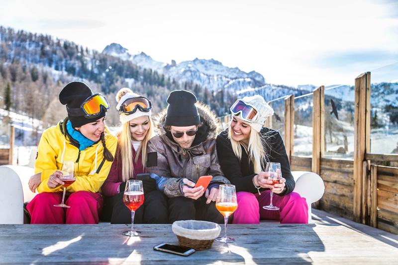 Wintersport met vrienden
