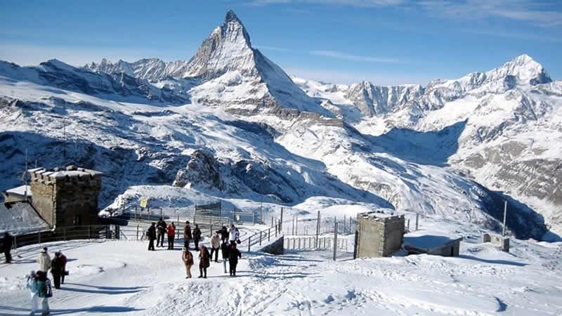 Wintersport in Zwitserland